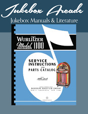 Wurlitzer 1100 Service Manual & Parts List,  Brand New!