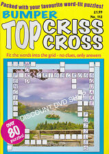 Bumper Top Criss Cross Puzzle Book Over 80 Puzzles. Vol 112-4