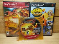 Playstation 2 Video Game Lot Jak 3 Crash Nitro Kart & Shadow the Hedgehog PS2