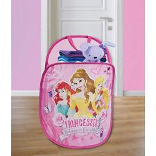 Disney Princesses Playhut Pop N' Play Pink Mesh Tote Hamper NIP