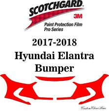 3M Scotchgard Paint Protection Film Pro Series Fits 2017 2018 Hyundai Elantra