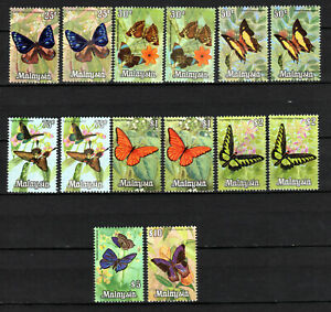 MALAYA MALAYSIA 1970 BUTTERFLIES COMPLETE SET + EXTRAS OF MNH STAMPS UNMOUNTED