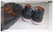 Chaussures Baskets Montants Toile Gris Ikks Pointure 15/16 + Petit Sac
