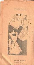 Vintage MADELINE Mail Order APRON PATTERN No. 2841, Sz MED 1940's-50's