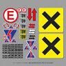 MSA Scrutineer Safety Stickers Sheet Race, Novice Rally and Track Day - SKU5142