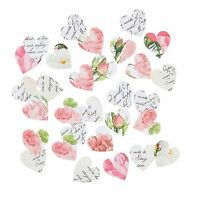 Heart Shaped Floral Table Confetti - Wedding Decoration -Blossom & Brogue Range