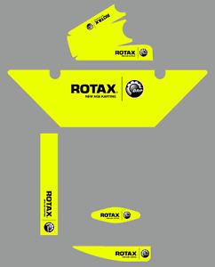 FLUORESCENT YELLOW EUROPEAN STYLE ROTAX RADIATOR STICKER KIT - KARTING