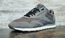 New listing Reebok Classic Nylon Athletic Shoes Sz 11.5 M Used Gray Suede J21418 Read