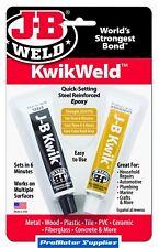JB Kwik Weld 2 Part Quick Setting Cold Weld Steel Reinforced Epoxy Glue Metal