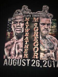 Floyd Mayweather VS Connor McGregor Boxing Promo T Shirt XL
