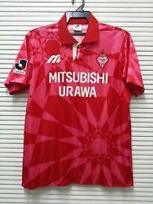 """Vtg 90's urawa red diamonds mitsubishi 93/94 mizuno home jersey/sz 0/m(21""""/27"""")"""