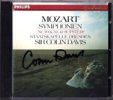 Colin DAVIS Signiert MOZART Symphony No.39 & 41 Jupiter CD Staatskapelle Dresden
