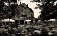 Bad Salzschlirf Hessen ~1959 Partie Terrasse Hotel Badehof Park Stühle Tische