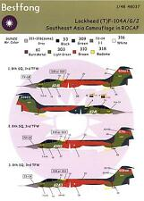 Bestfong Decals 1/48 LOCKHEED TF-104 STARFIGHTER South East Asia Camouflage ROC