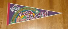 1992 Atlanta Braves NL Champs pennant World Series Tom Glavine John Smoltz Justi