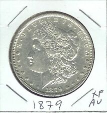 USA MORGAN DOLLAR 1879 XF-AU LIBERTY,AND EAGLE CLASPING ARROWS AND OLIVE BRANCH