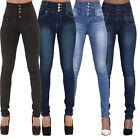 Women's Casual High Waist Slim Skinny Jeans Stretch Pencil Denim Pants Trousers