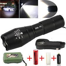 8000lm X800 T6 LED Zoomable Lampe de Poche Torche 18650 Batterie Chargeur Boîte