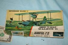 Vintage Walrus 11 Supermarine Airfix Series 2 1/72 Scale Model Plane Kit
