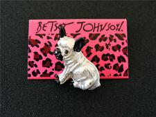 Betsey Johnson Bling Bulldog Dog Enamel Charm Party Brooch Pin Gift