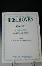 Curci Series Beethoven Sonata I for Violin & Piano Opus 12 No.1 in D Major (232)