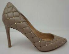 Valentino Rockstud Pointe Matelassé Poudre Pompe Cuir Femmes Chaussure Taille 39