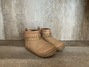 Stride Rite Toddler Girls Bianca Boots Size 6 Gold Tan Boots GUC