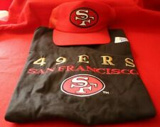 SF 49ERS Embroidered Shirt MEDIUM and Red New Era Snapback Hat
