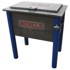 Brown and Blue Wood 54 Qt. Ole Miss Rebels Chest Cooler with Two Side Handles