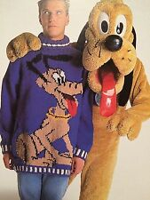Disney Pluto Adult Jumper Knitting Pattern