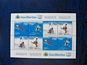 Rep. San Marino 1994 Foglietto Olimpiadi Lillehammer MNH**