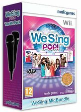 Karaoke Wii/WiiU Game We Sing Pop +2 Micros Microphones u NEW