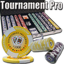 New 1000 Tournament Pro 11.5g Clay Poker Chips Set - Aluminum Case - Pick Chips!