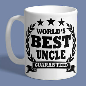 WORLDS BEST UNCLE MUG Ceramic Coffee Tea Cup Printed Funny Birthday Gift Present