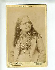 "(B2) Grande Photo CDV Eug. PIROU ""chanteuse actrice opéra théâtre"" MARIE LAURENT"