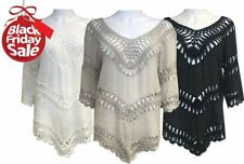 Holiday Viscose 3/4 Sleeve Tops & Shirts for Women