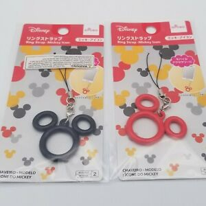 Cute Disney Mickey Mouse Icon Cell Phone Charm Ring Strap