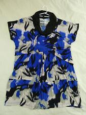 TS Taking Shape S Blue Grey Black Watercolour Dress.