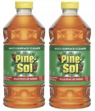 Lot (2) 40oz PINE SOL MULTI SURFACE CLEANER Concentrate Kills 99% Germs Disinfec