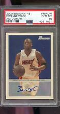 2009 Topps Bowman '48 1948 Dwyane Wade ROOKIE AUTO Autograph PSA 10 Graded Card