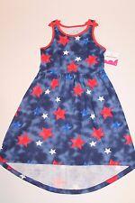 Jumping Beans Girl's Red White & Blue Stars USA Maxi Dress Girl Size 4 NEW