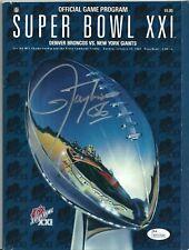 Lawrence Taylor Signed Original Football Super Bowl XXI Program *SB Champs JSA