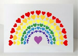 RAINBOW TAGS/CARDS - PACK OF 6 + ENVELOPES | GREAT AS GIFT TAGS | THANK YOU TAGS