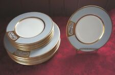 CAROLE STUPELL SET OF 16 PLATES  (2 DIFFERENT SIZES): HAS INITIALS PWG