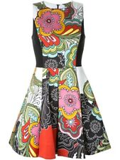 Alice + Olivia Adrianne Boat Neck Mini Flare Dress Flower Pleated Size 4 NWOT