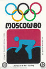 Bicycle racing Cyclisme Cycling MOSCOU Moscow Olympic GAMES MATCHBOX LABEL 1980