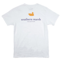 Southern Marsh Authentic Collegiate White w/ Purple Small T-Shirt Short Sleeve