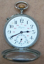 ANTIQUE RARE POCKET WATCH VINTAGE SWISS - LONGINES TRAIN