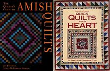 Lot of 2 Quilting Booklets The Quilter's Guide To Amish Quilts & Quick Quilts
