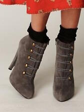 Jeffrey Campbell Free People Gray Suede Sgt Pepper Platform Boots sz 10m $198